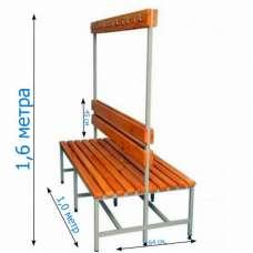 Скамейка с вешалкой для раздевалки 1,0 метр