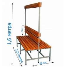 Скамейка с вешалкой для раздевалки 2,0 метра