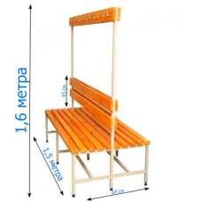 Скамейка с вешалкой для раздевалок 1,5 метра