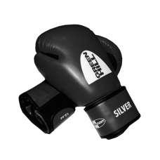 Перчатки боксерские SILVER BGS-2039, 10oz, к/з, черные