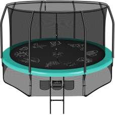 Батут Clear Fit FamilyHop 10ft (305см) с внутренней сеткой и лестницей