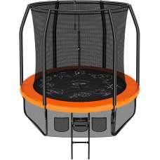 Батут Clear Fit FamilyHop 8ft (244см) с внутренней сеткой и лестницей