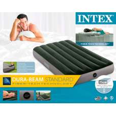 Матрас надувной односпальный со встроенным ножным насосом 99х191х25см Intex 64761