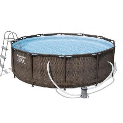 Каркасный бассейн Bestway Ротанг 56709, 366х100 см, насос-фильтр, лестница