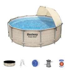 Каркасный бассейн Bestway 5614V, 396х107 см, полный комплект