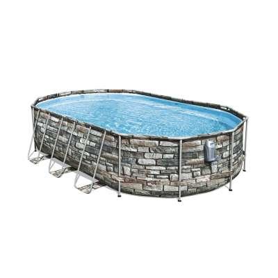 Каркасный бассейн Bestway Power Steel 56719, 610x366x122см, полный комплект