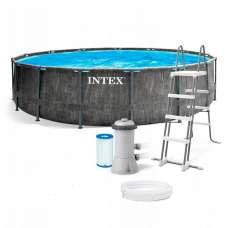 Каркасный бассейн INTEX Greywood Prism Frame 26744(круг) 5,49х1,22м, полный комплект