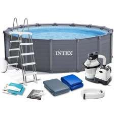 Каркасный бассейн INTEX Sequoia Spirit 26384 (круг) 4,78х1,24м, полный комплект с песч. фильтром