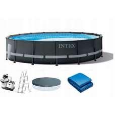 Каркасный бассейн Intex Ultra XTR Frame 26326 (круг) 4.88 x 1.22 м, полный комплект