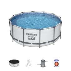 Каркасный бассейн Bestway 56420, 366х122 см, фильтр-насос, лестница