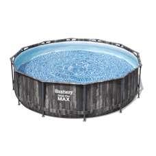 Каркасный бассейн Bestway Wood Style 5614X, 366х100 см, насос, лестница