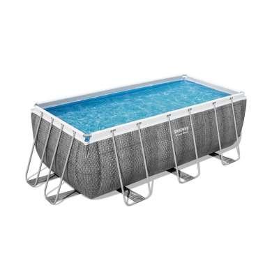 Каркасный бассейн Bestway Power Steel 56722, 412х201х122см, насос-фильтр, лестница