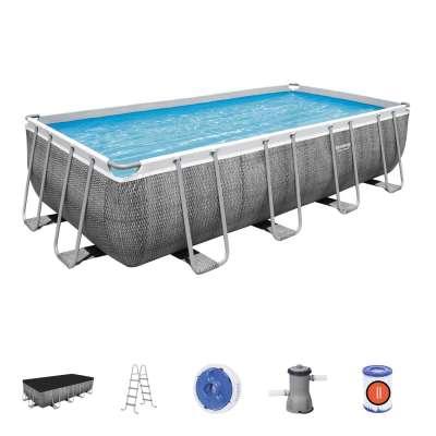Каркасный бассейн Bestway Power Steel 56996, 488х244х122см, насос-фильтр, лестница