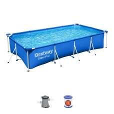 Каркасный бассейн Bestway Steel Pro 56424, 400х211х81 см, фильтр-насос