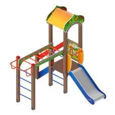 Детский игровой комплекс «Полянка» ДИК 1.16.05 H=750