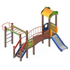 Детский игровой комплекс «Полянка» ДИК 1.16.06 H=750