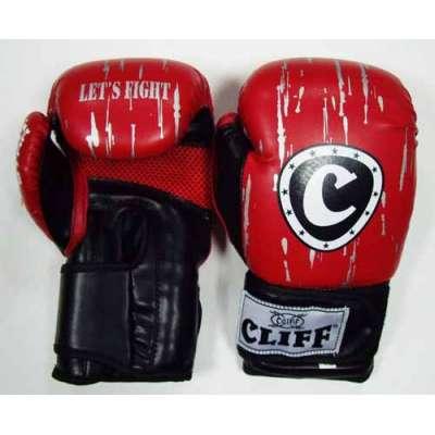 Перчатки боксерские липучка fight star (dx)