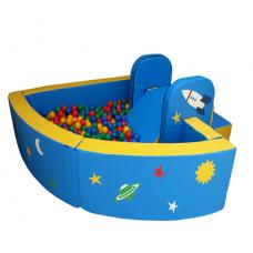 Сухой бассейн угловой «Космос» разборный