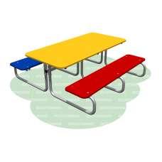 Столик со скамьями детский Romana