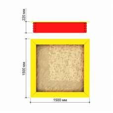 Песочница 1500 x 1500 Romana