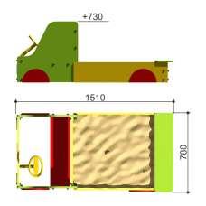 Песочница Машинка Romana