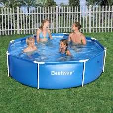 Каркасный бассейн Round Steel Pro Bestway 56431 (круг) 2,44х0,61м