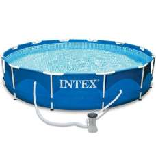 Каркасный бассейн Intex Metal Frame Pool 28212, 366х76 см + фильтр-насос