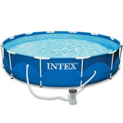 Каркасный бассейн Intex Metal Frame Pool, 366х76 см + фильтр-насос