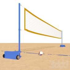 Сетка для пляжного волейбола (1м×8,5м) стропа с 4-х сторон