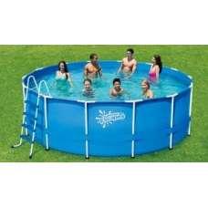Каркасный бассейн Polygroup Summer Escapes P20-1452-Z (круг) 4,27х1,32м, лестница, тент