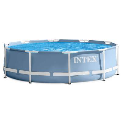 Каркасный бассейн INTEX Prism Frame Pool (круг) 3,66х0,76м, арт. 28712 с насосом