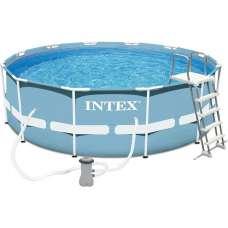 Каркасный бассейн INTEX Prism Frame Pool 28726 (круг) 3,66х1,22м с насосом, лестницей