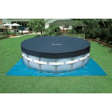 Каркасный бассейн INTEX Prism Frame Pool (круг) 4,57х0,84м, полный комплект