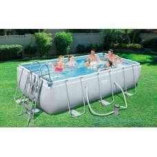 Каркасный бассейн Bestway Frame 56456 (прямоугольный) 4,12х2,01х1,22м, насос-фильтр, лестница