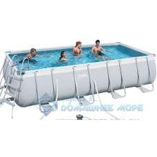 Каркасный бассейн Bestway Frame (прямоугольный) 4,88х2,44х1,22м, насос-фильтр, лестница