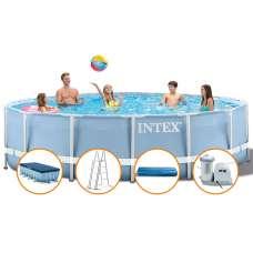 Каркасный бассейн INTEX Prism Frame Pool (круг) 5,49х1,22, полный комплект