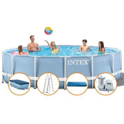 Каркасный бассейн INTEX Prism Frame Pool 26752(круг) 5,49х1,22, полный комплект