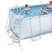Каркасный бассейн Bestway 56241-56456 Rectangular Frame 4,12х2,01х1,22м, насос, лестница