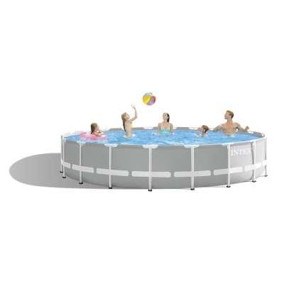 Каркасный бассейн INTEX Prism Frame Pool 26756 (круг) 6,10х1,32м, полный комплект