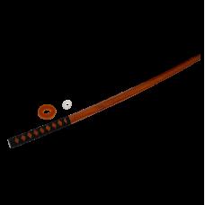 Макет меча Бокен с оплеткой, красный дуб