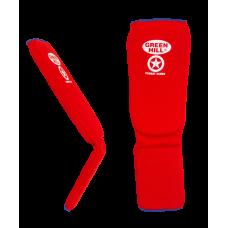 Защита голень-стопа Combat Sambo SIC-6131, хлопок, красный