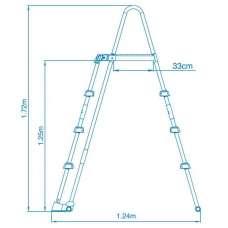 Лестница с площадкой, для бассейна 122см. Intex 28076