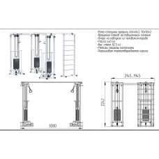 AR087.3х2200 Биотонус-3+шведская стенка (стек 3х75кг)