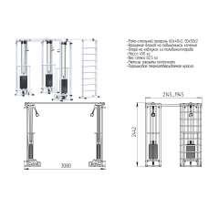 AR087.3х2400 Биотонус-3+шведская стенка (стек 3х75кг)