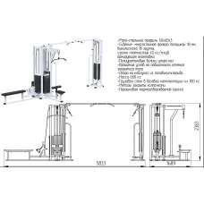 AR091х4х100 Блочная станция с кроссовером (стек 4х100кг)