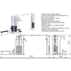 AR092х4х100 Блочная станция регулируемая (стек 4х100кг)