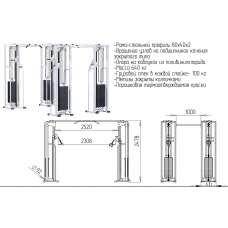 AR081.4х100 Двойной кроссовер на базе блочной рамы (стек 4х100кг)