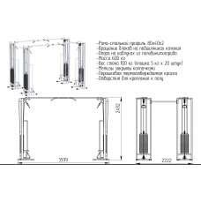 AR082.4х100 Двойной кроссовер на базе реабилитационной рамы (стек 2х100кг)