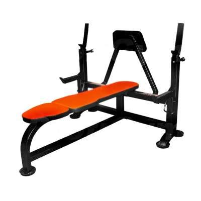 Gm-005 скамья для жима лежа со страховочными упорами и упором для партнера