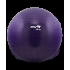"""Мяч гимнастический """"Антивзрыв"""" STARFIT GB-101 ( зеленый, черный, фиолетовый)"""